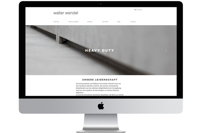 Walter Wendel – Website